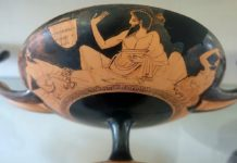 Taza griega antigua