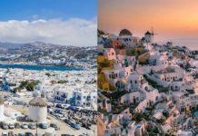 Santorini vs Mykonos